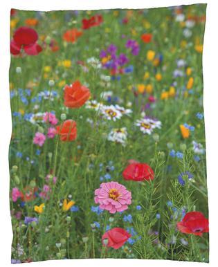 Wild Flowers Field 1 Fleece Blanket