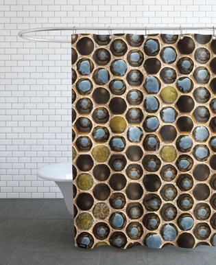 Bee Pattern Shower Curtain