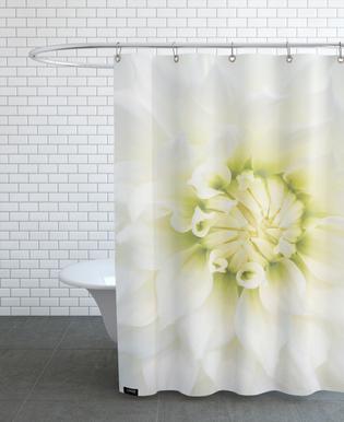 White Dahlia As Shower Curtain