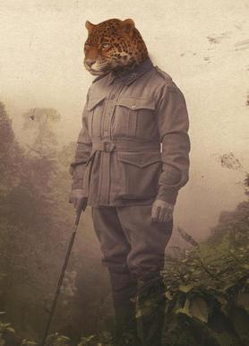 Jungle Jaguar canvas doek