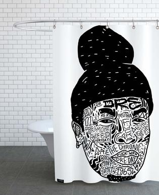 Tupac As Shower Curtain By Nick Cocozza