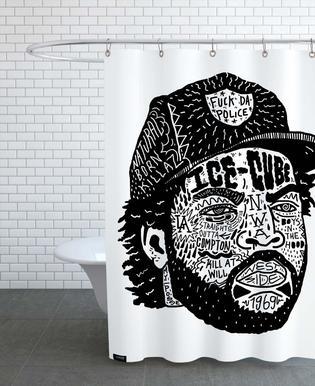 Ice Cube douchegordijn
