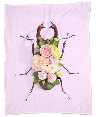 Floral Beetle Fleece Blanket