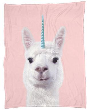 Alpaca Unicorn Fleece Blanket