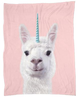 Alpaca Unicorn Plaid