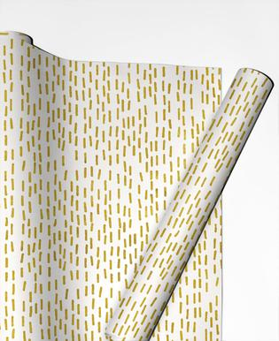 Gold Stripes Gift Wrap