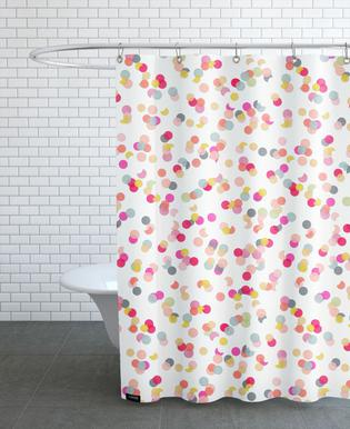 Confetti Mix Pink Shower Curtain