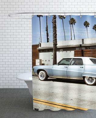Buick Blue Shower Curtain