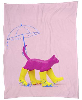 Puss in [Rain] Boots Fleece Blanket