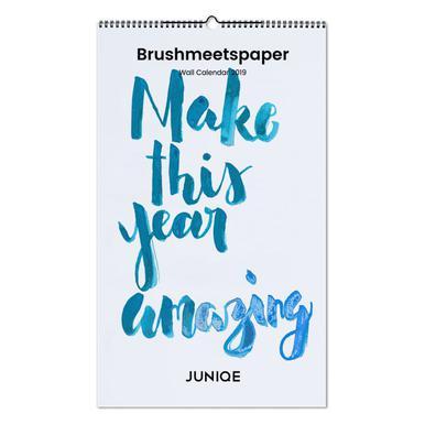 Brushmeetspaper 2019 Wall Calendar