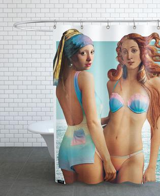 Beach Girls Douchegordijn