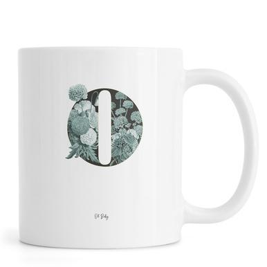 Flower Alphabet - O Mug