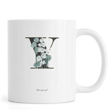 Flower Alphabet - Y Tasse