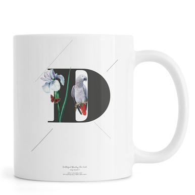 Botanical Alphabet - D Tasse