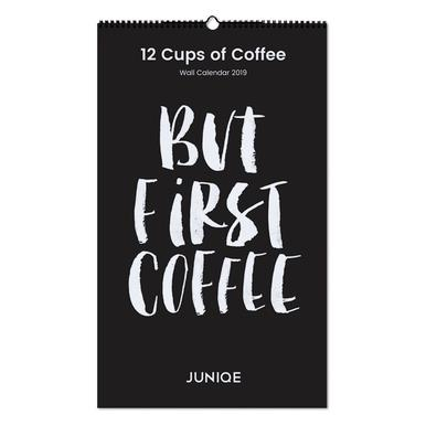 12 Cups of Coffee 2019 Wall Calendar