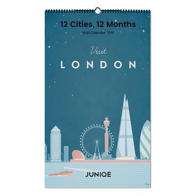 12 Cities, 12 Months 2019 Wall Calendar