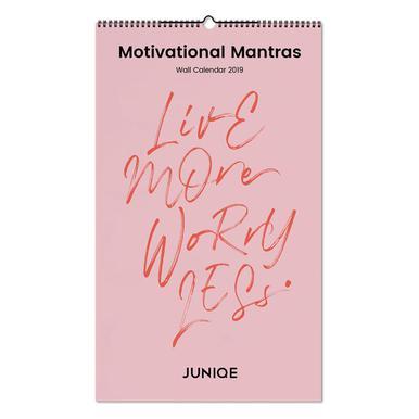Motivational Mantras 2019 Wall Calendar