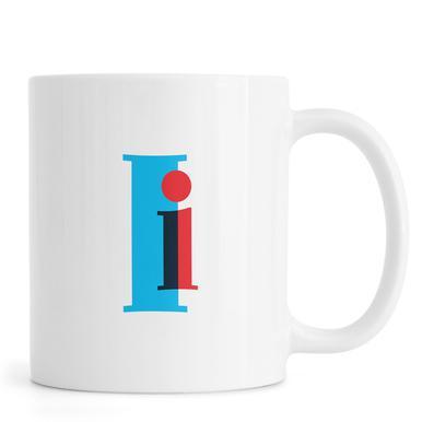 Cyan/Red I Mug