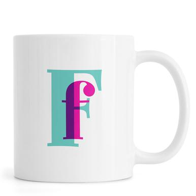 Magenta/Mint F mug