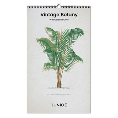 Vintage Botany 2019 Wall Calendar