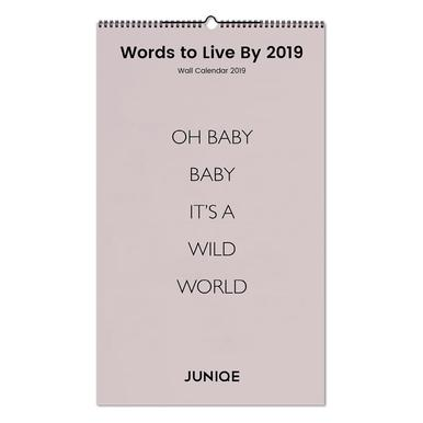 Words to Live By 2019 Calendrier mural