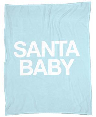 Santa Baby Blue Plaid