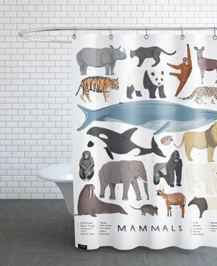 Mammals Douchegordijn