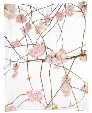 Flora - Japanische Kirsche Fleece Blanket