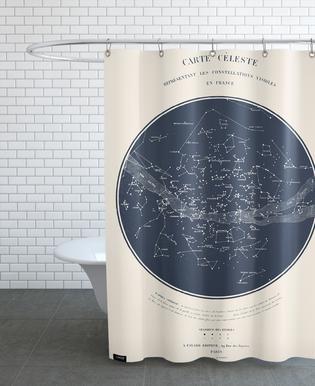 Carte du Ciel -Duschvorhang