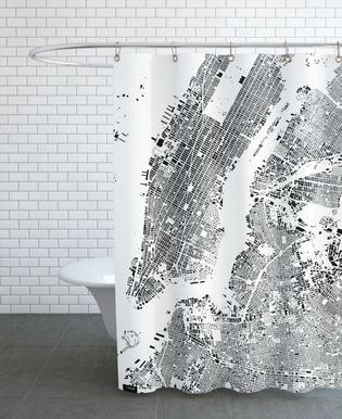 New York Map Schwarzplan Rideau de douche