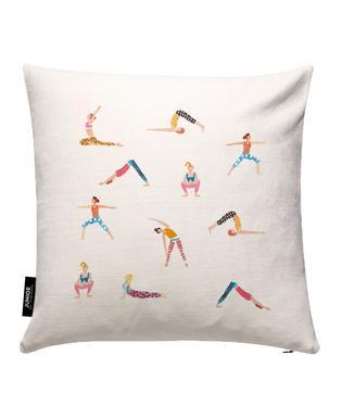 Yoga People Cushion Cover