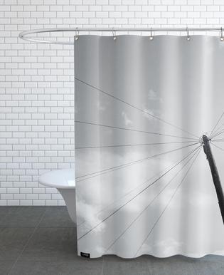Power pole Shower Curtain