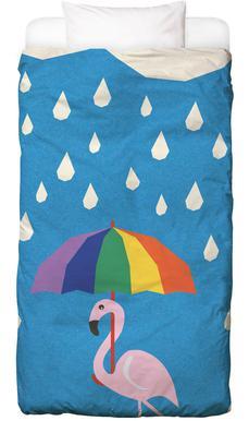 Flamingo de Umbrella Kinderbettwäsche