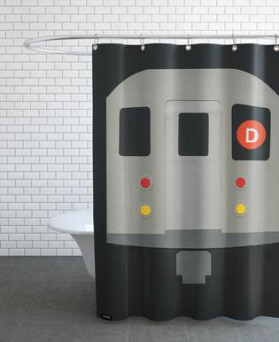 New York Subway Car R62 en Rideau de douche par Rosi Feist | JUNIQE
