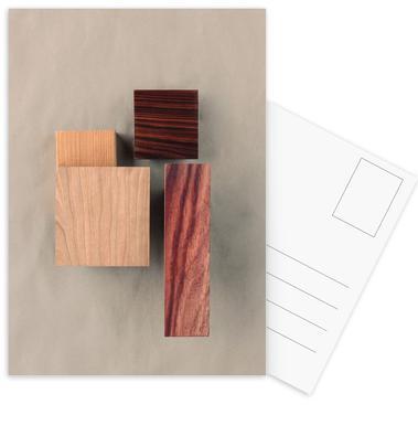Cherry Cocobolo Padauk Wood I Postcard Set