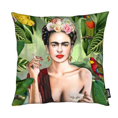 Frida Con Amigos Cushion