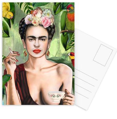 Frida Con Amigos Postcard Set