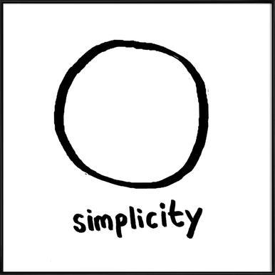 Simplicity Als Poster In Houten Lijst Door Esra Glmen Juniqe