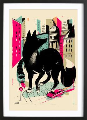 Giants Zorro Poster in Wooden Frame