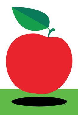 Apple 1 Aluminium Print