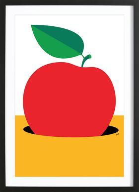 Apple 2 Poster in Wooden Frame