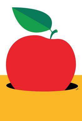 Apple 2 Aluminium print