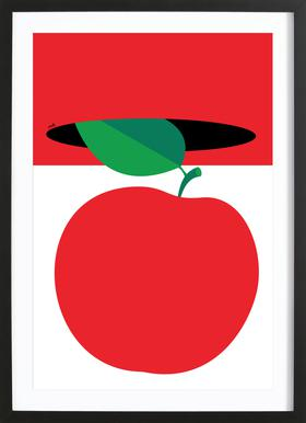 Apple 3 Poster im Holzrahmen