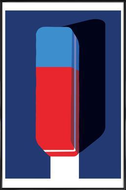 Erase Poster im Kunststoffrahmen