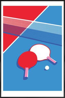 Ping Pong Poster im Kunststoffrahmen