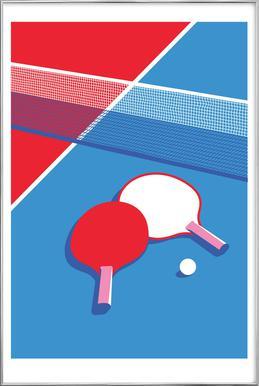 Ping Pong Poster im Alurahmen