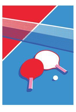 Ping Pong Acrylic Glass Print