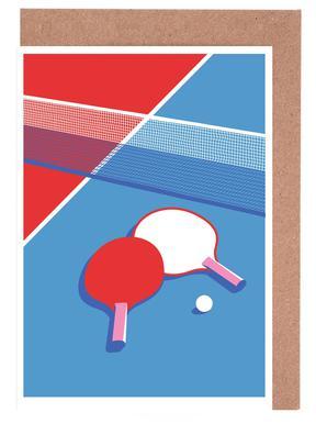 Ping Pong Lykønskningskort sæt