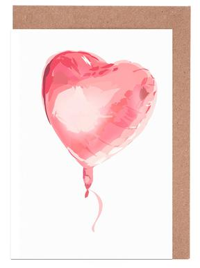 Heart Balloon Set de cartes de vœux