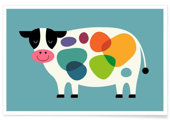 Awesome Cow Poster